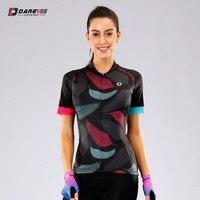 DAREVIE Women Cycling Jersey Pro Women Cycling Jersey Laser Cutting Sleeve Women Cycling Jersey Breathable Soft Bike Clothing
