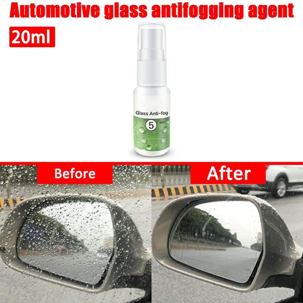 Auto Rear View Antifog Agent 20ml Spray Anti-fogging Car Windshield Glass Helmet Goggle Coating Maintenance Accessories
