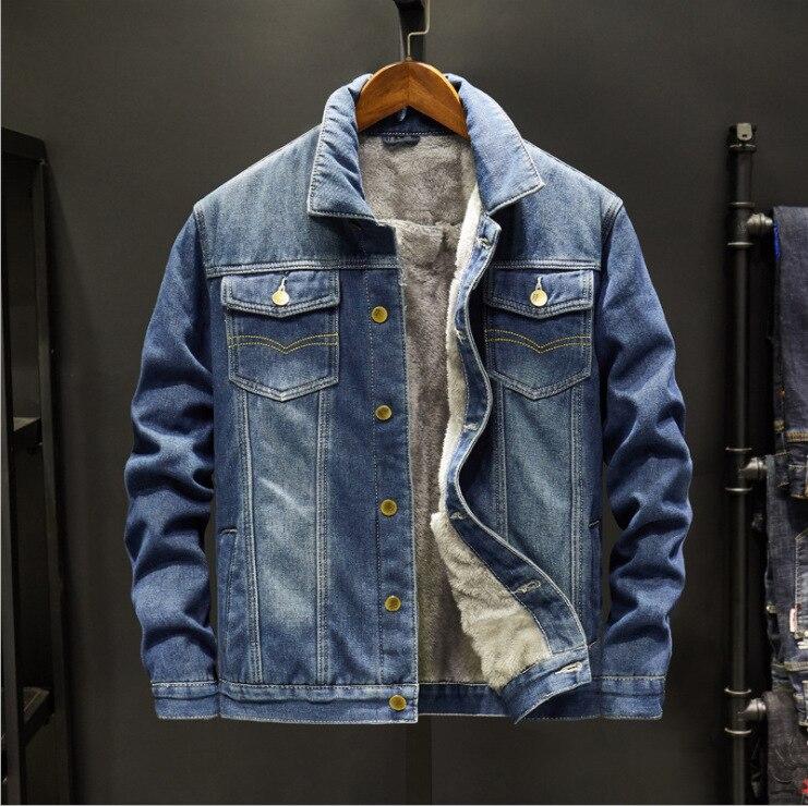Осенне-зимняя мужская джинсовая куртка, молодежная свободная повседневная куртка, 2021