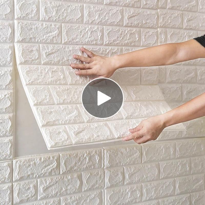 70x38cm 3D Wall Stickers Self Adhesive Foam Brick Room Decor DIY 3D Wallpaper Wall Decor Living Wall Sticker For Kids Room