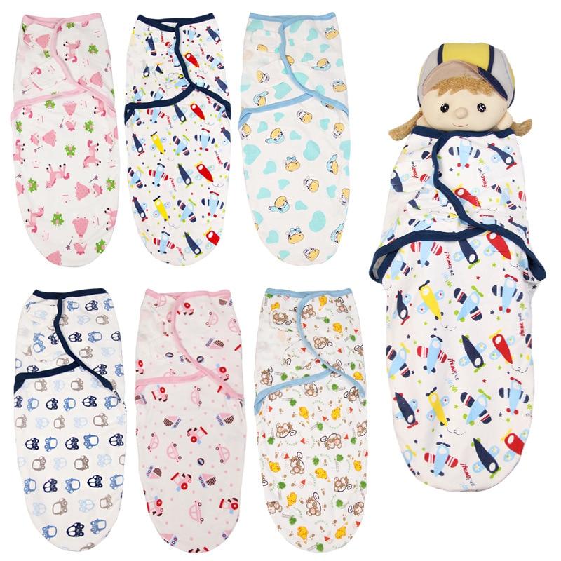 Baby Swaddle Blanket Wrap Soft Cotton Swaddling Sack for Newborn Infant 0-3M Breathable Sleep Bag