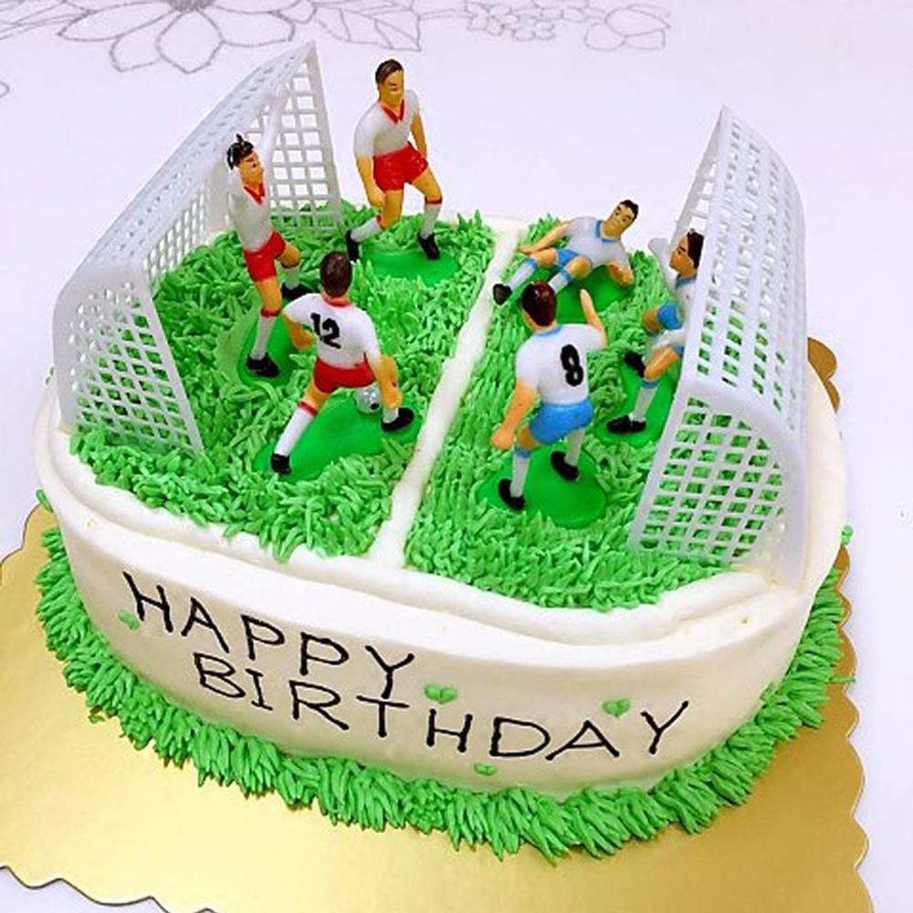 1 Juego de juego de fútbol, Topper de pastel DIY para niños, Magdalena de cumpleaños, decoración infantil de juguetes, suministros para hornear cupcakes y fiestas