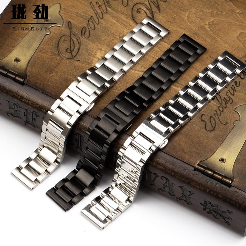 ALLBAI, pulsera de acero inoxidable 304, pulsera de acero inoxidable, pulsera de 20mm, correa de acero de 22mm