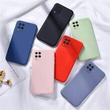 Para Xiaomi Mi 10 Lite funda para Xiaomi Mi 10T Pro líquido de caucho de silicona para Redmi 9C Poco M3 Poco X3 NFC Mi 10T Lite Mi 11