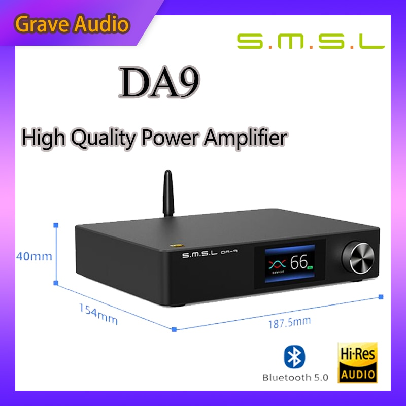 SMSL DA-9 عالية الجودة مكبر كهربائي بلوتوث 5.0 أمبير APT- X دعم DA9 مع التحكم عن بعد مكبر صوت استيريو