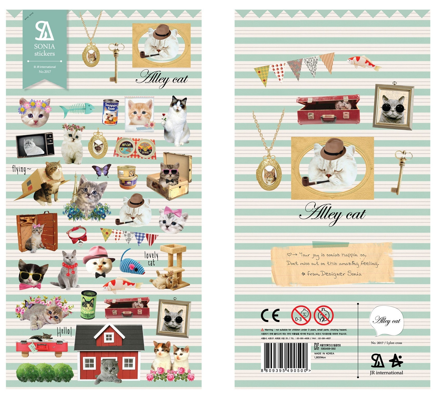 Coreano importación lindo Pequeño gato hogar papelería pegatinas Scrapbooking DIY suministros diario pegatinas escuela Oficina