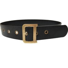Double Ring Women Belt Fashion PU Leather Metal Buckle Heart Pin Belts For Women Ladies Leisure Dres