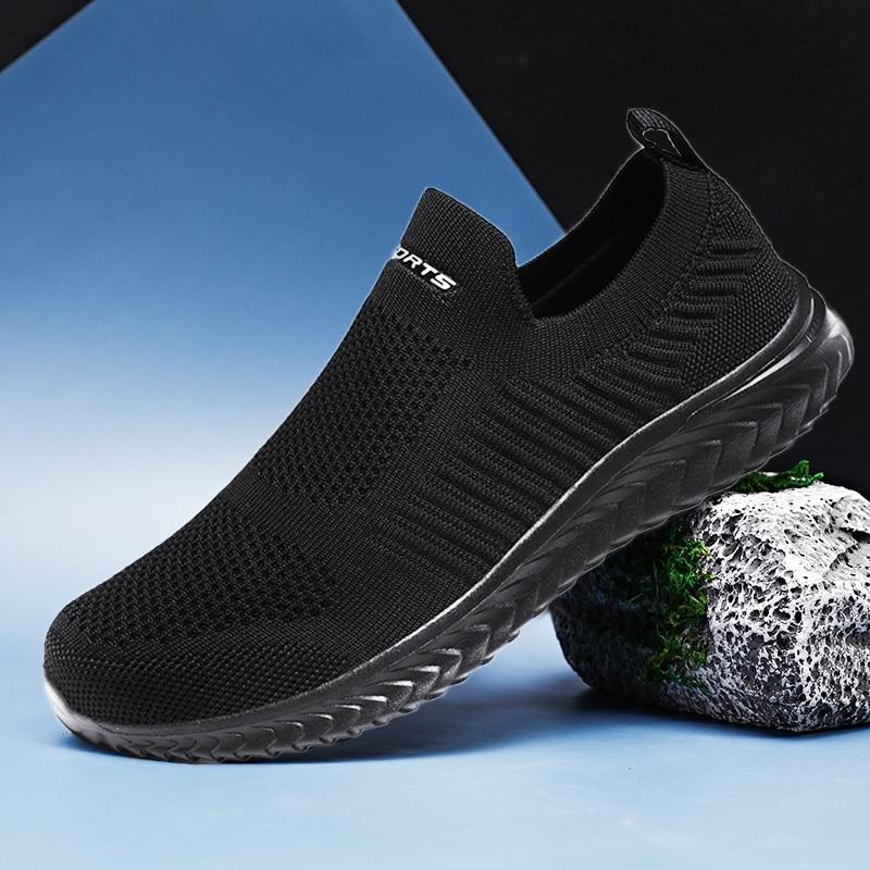 حذاء رياضي للرجال والنساء ، حذاء كاجوال عصري وخفيف الوزن ، بدون أربطة ، مريح ، وردي ، مقاس كبير 11 ، رمادي