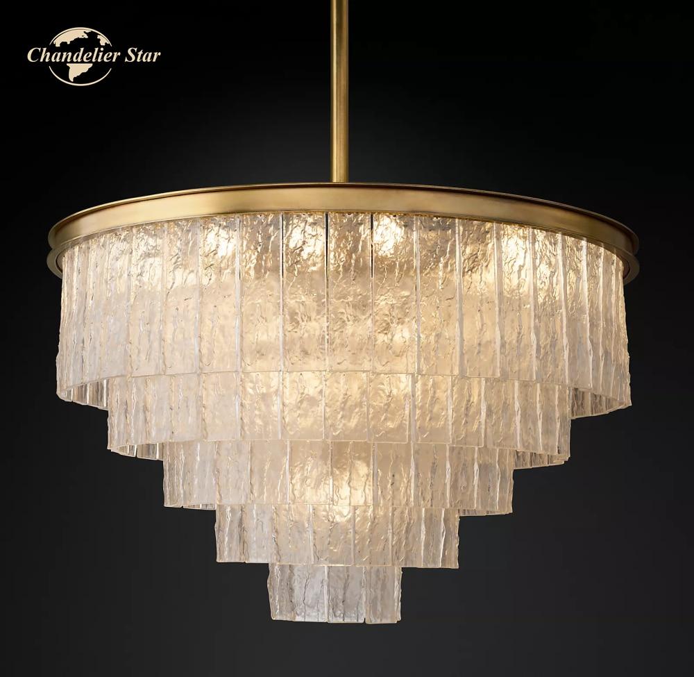 Glace الثريات المستديرة Vintage الزجاج الكروم الذهبي المعادن مصابيح السقف غرفة نوم غرفة المعيشة غرفة الطعام أضواء تركيبات ديكور