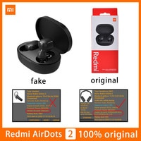 Гарнитура беспроводная Xiaomi Redmi Airdots 2, фирменные наушники TWS с микрофоном, Bluetooth 5,0, автоматическое соединение