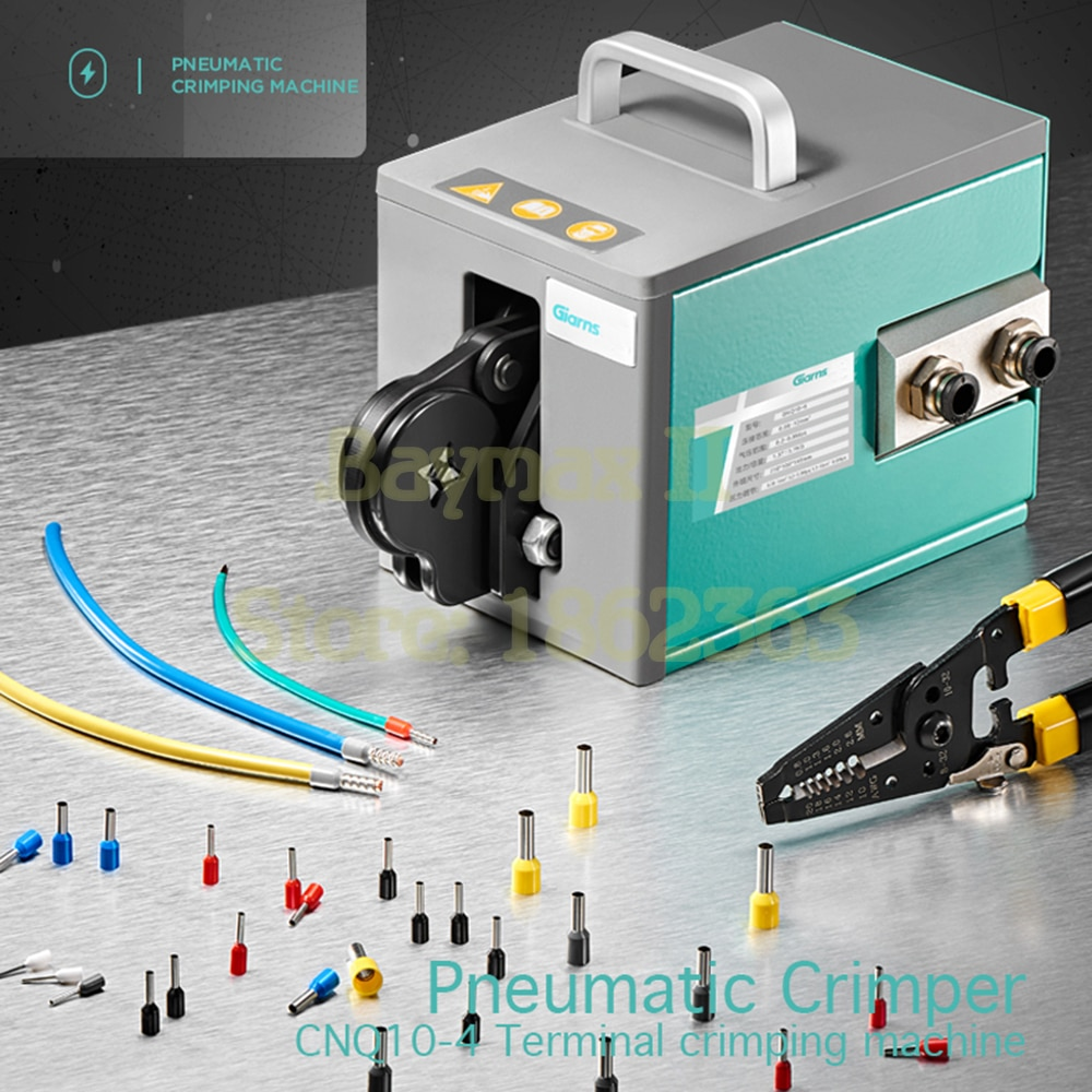 CNQ10-4 Pneumatic Crimper Crimping Tool for 0.08-10mm² Tube Type Insulated Ferrule with Quadrilateral crimp
