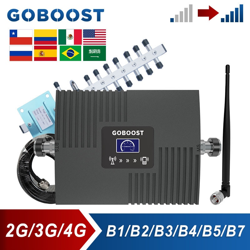 GOBOOST هاتف محمول الداعم إشارة ل 2 جرام 3 جرام CDMA 850 UMTS 2100 مكرر LTE 4 جرام 2600 AWS 1700 قطعة 1900 ميجا هرتز الخلوية عدة مكبر الصوت