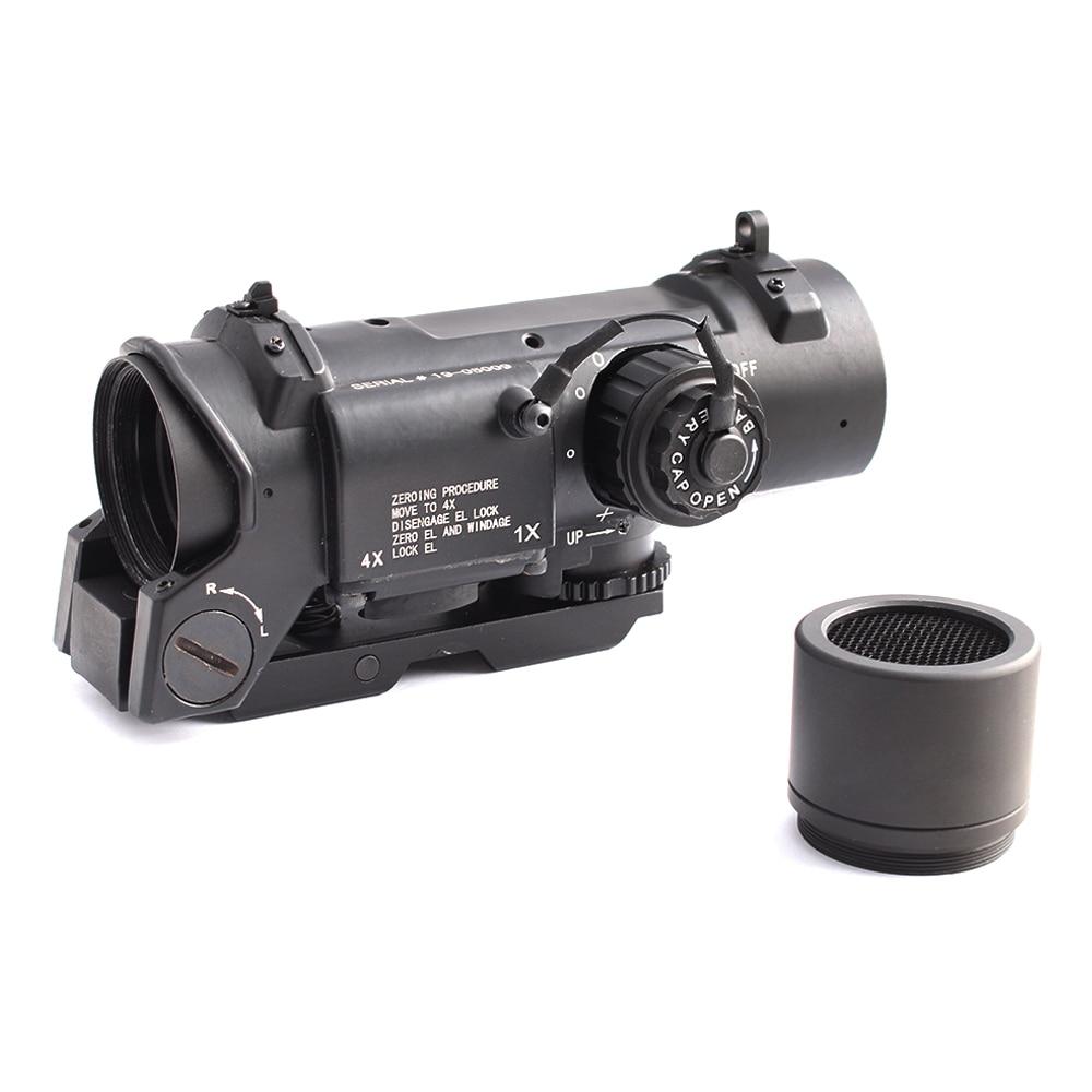 Mira telescópica táctica 4x Airsoft óptico mira ajuste 20mm Weaver Rail Picatinny para caza