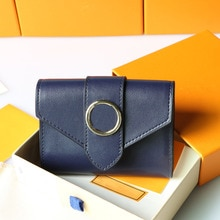 Women Wallet Leather Luxury Fashion Brand Card Holder Metal Coin Purse High Quality Bag Gift Box Pac