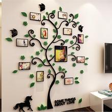 3D Fotolijst Boom Acryl Muurstickers Innovatieve Acryl Kristal Muurstickers Sofa Tv Decoratieve Achtergrond # W0