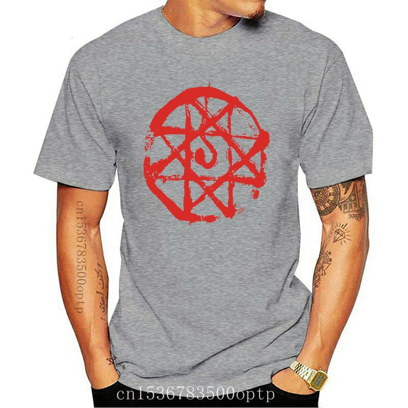 Hot Topic Fullmetal Alchemist Blood Seal T-Shirt Fashion New Arrival Simple Free Shipping Summer T Shirt Men High Quality Tees