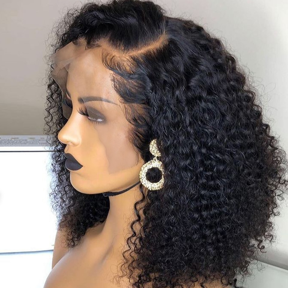 13x4 Curly Lace Front Wigs For Women Deep Wave Lace Frontal Wig 4X4 Lace Closure Bob Wig Brazilian Deep Wave Human Hair Wigs