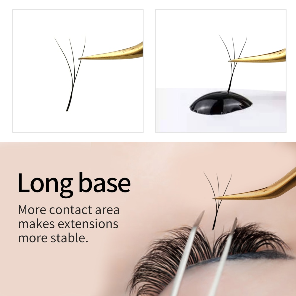 LAKANAKU 3D W Synthetic Lash Extentions Mix Trays Premium Mink Eyelash Trays Professional Individual