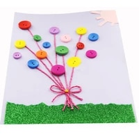 30pcsset mixed color threading stitch buttons handmade puzzle game for kids diy assembling buckles hand eye coordination toys