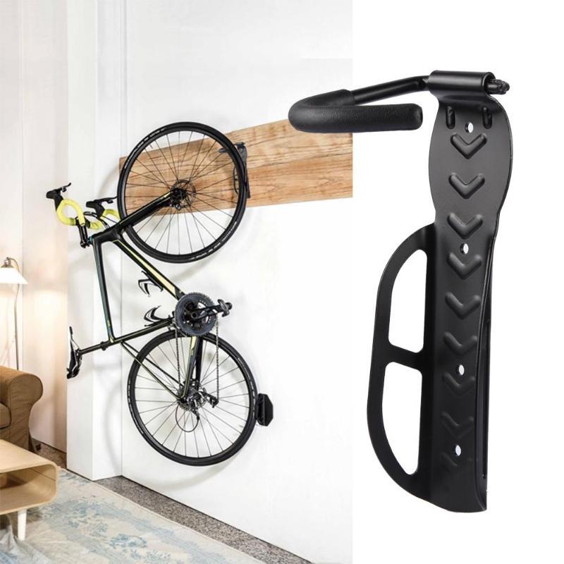 30kg de capacidad de montaje en pared de bicicleta soporte de bicicleta montaña estante de almacenamiento para bicicletas soportes de acero gancho de gancho accesorios de bicicleta