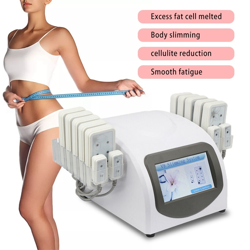 Professional Body Slimming Machine Liposuction Weight Loss 650nm Diode Laser 14 Lipo Pads Machines M