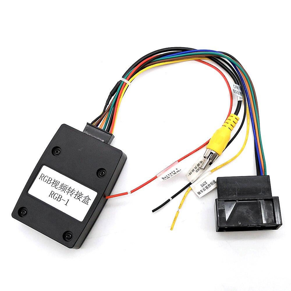 26Pin RGB a CVBS (RCA) AV convertidor de señal adaptador de cámara inversa Cable para Volkswagen tizan nuevo Magotan Passat CC