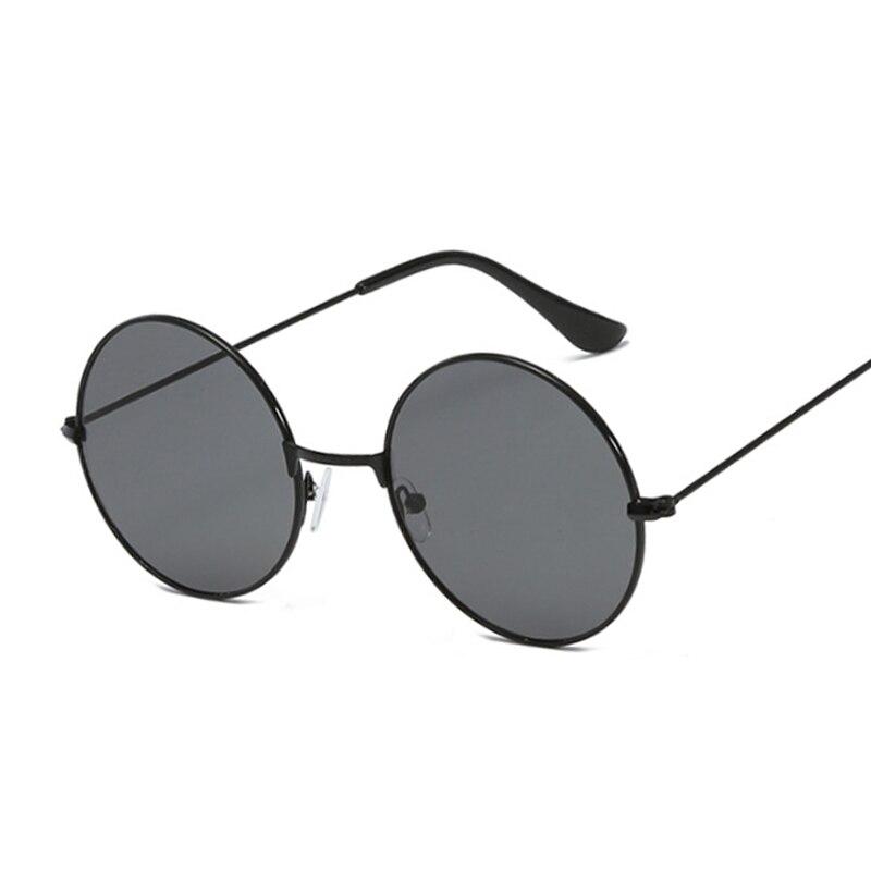 Vintage Small Round Sunglasses Women Brand Designer Female Alloy Colorful Mirror Retro Black Circle Oculos De Sol