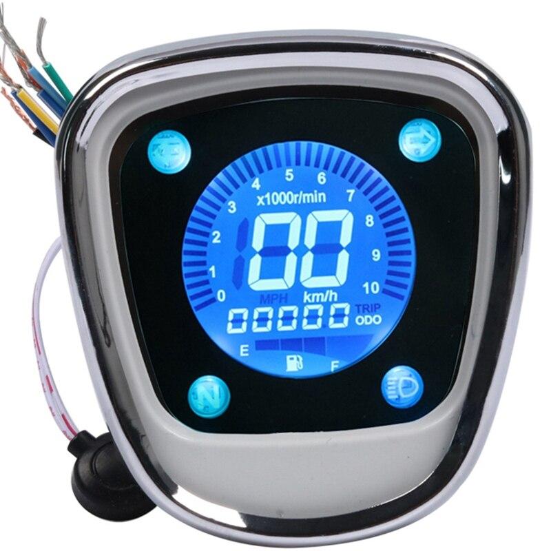عداد المسافات الرقمي LCD للدراجة النارية عداد السرعة عداد سرعة الدوران Assy لهوندا جواز سفر C50 C70 C90 جواز سفر الشبل 70 90 C70