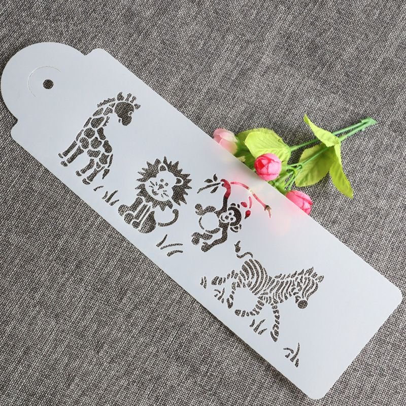 Cute Giraffe Zebra Monkey Lion Cake Airbrush Painting Art DIY Home Decor Scrap booking Album Crafts Stencil paint