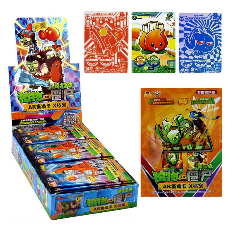 240pcs/set Plants Vs Zombies Big Wave Beach Cards Plants Zombies Platinum Collect Card Pea Shooter Sunflower Trade Card Kid Toy boys toy plants vs zombies hand dolls 3 years old doll pea shooter pepper cannibal flower toy birthday and christmas gifts