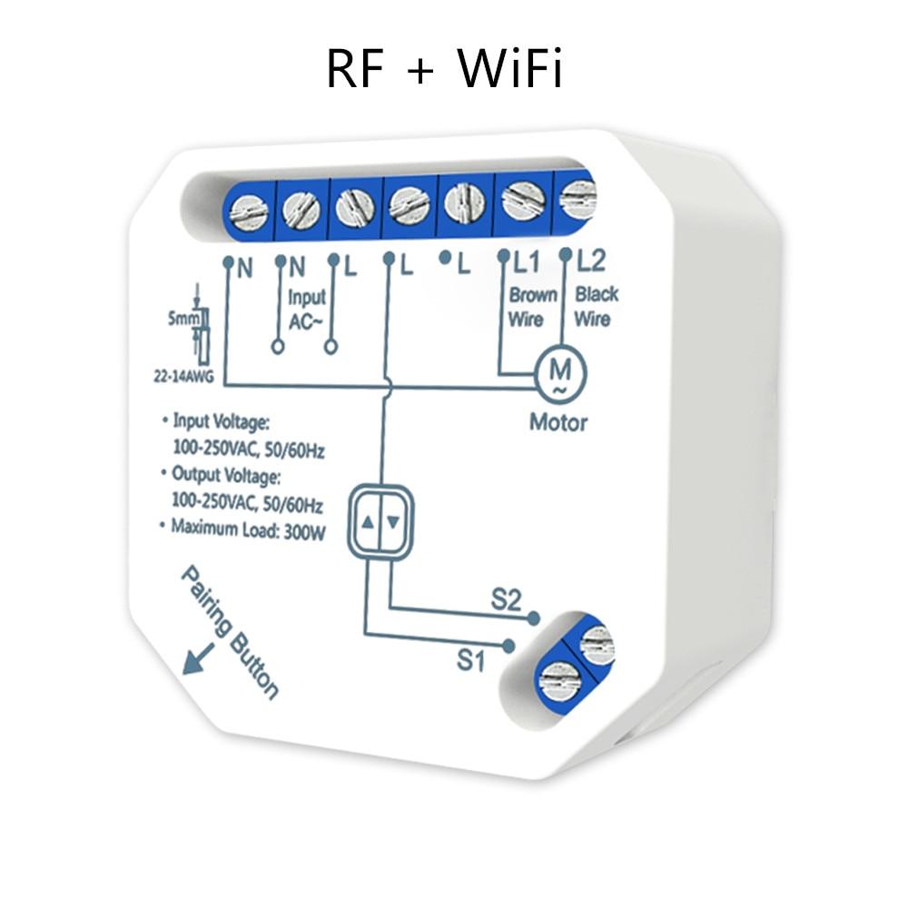 Tuya Smart WiFi RF Электрический модуль Штора для двигателя рольставни, работает с пультом дистанционного управления затвором LoraTap