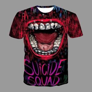 2021 Summer Pop Tees Tops Funny Big Mouth Print Hip Hop Men T-Shirt Fashion O-Neck Short Sleeve Quick Dry Male Streetwear 4XL