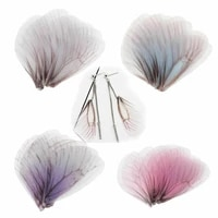 new 10 pcs tulle translucent butterfly dragonfly wing charms for women earrings pendant diy earrings jewelry making