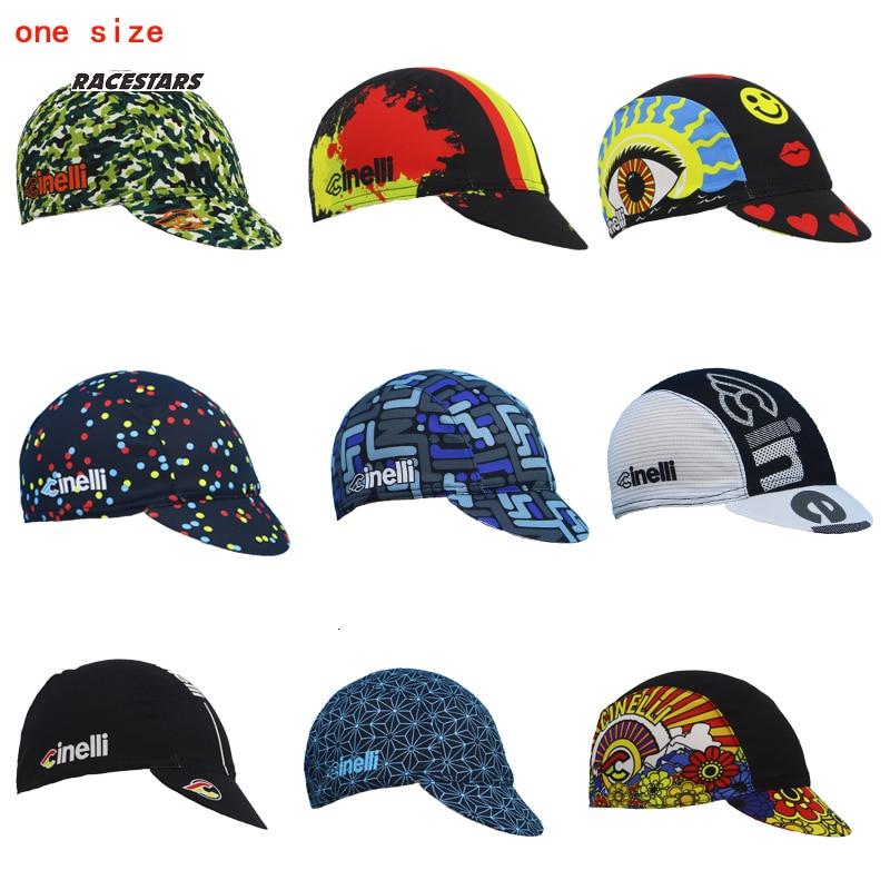 Gorra para hombres y mujeres de ciclismo tocado un tamaño transpirable 9 estilo de ropa de bicicleta sombrero