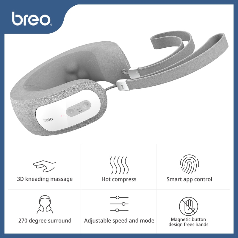Breo iNeck 3 Pro Electric Neck Massager Shiatsu Massage Pillow with Heat Deep Tissue Kneading& APP Control for Cervical Realx