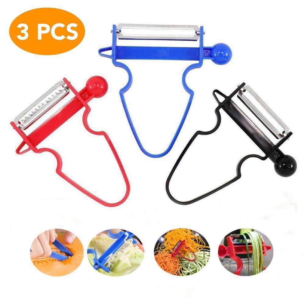 1/3pcs Magic Trio Peeler Slicer Shredder Peeler Julienne Cutter Multi  Stainless Steel Blade Grater Zesters Kitchen accessories
