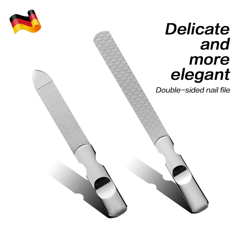 AliExpress - Professional Double Sided Nail File Stainless Steel Sandpaper Nail Sanding Grinding Polishing Manicure Care Tools