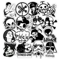 103050pcs black and white retro horror boy leader decorative skateboard waterproof graffiti car sticker wholesale