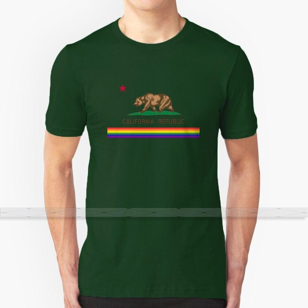 California Lgbt bandera para hombres mujeres camiseta Tops verano algodón Camisetas talla grande S - 6XL Los Angeles La San Francisco Sf