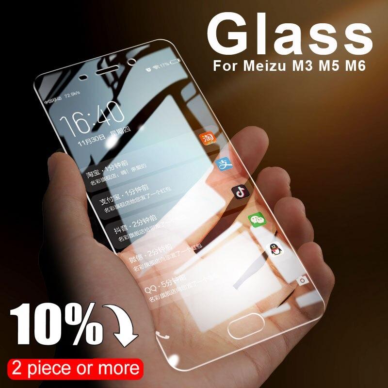 Vidrio Templado antiarañazos 9D para MEIZU M5 M6 Note M3 Mini M3S M5S M6S M6T Pro 6 7 plus Pantalla protectora de vidrio película protectora