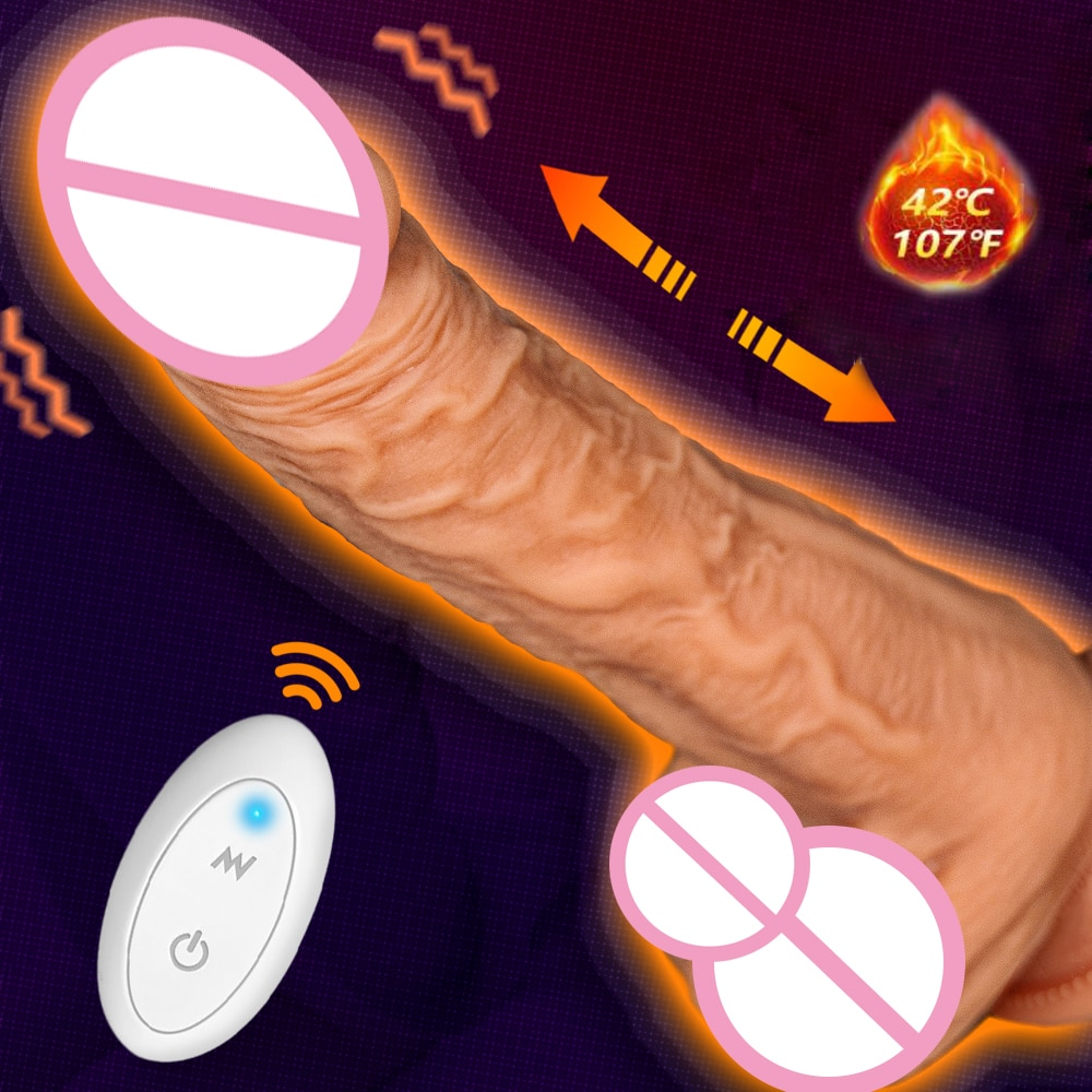 Автоматический телескопический большой фаллоимитатор вибратор для женской мастурбации реалистичный вибратор, пенис на присоске взрослые секс-игрушки для женщин