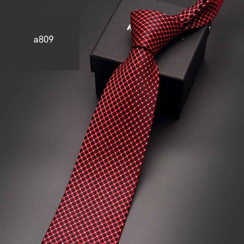 2020 High Quality Brand New Fashion Business Striped Plaid 8cm Necktie Bridegroom Wedding Tie Party Ties for Man with Gift Box