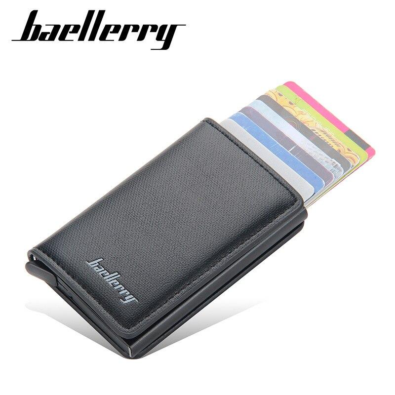 Aluminum Metal Credit Business Mini Card Wallet 2021 Dropshipping Man Women Smart Thin Wallet Business Card Holder Rfid Wallet