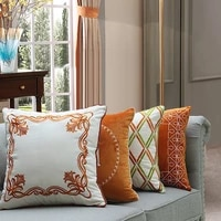 luxury embroidered bedroom living room sofa cushion cover pillow case home decorative sofa throw pillows