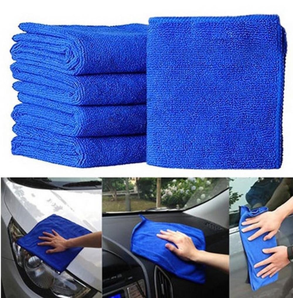 Nowe praktyczne 5 sztuk niebieski miękka wchłaniająca tkanina do prania środek do pielęgnacji karoserii z mikrofibry detailing тряпка для автdarmowa wysyłka myjnia samochodowa