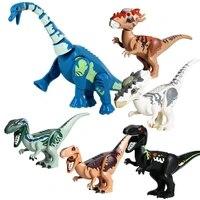 jurassic brutal raptor building blocks dinosaur world 2 bricks tyrannosaurus indominus i rex assemble dino kids toys