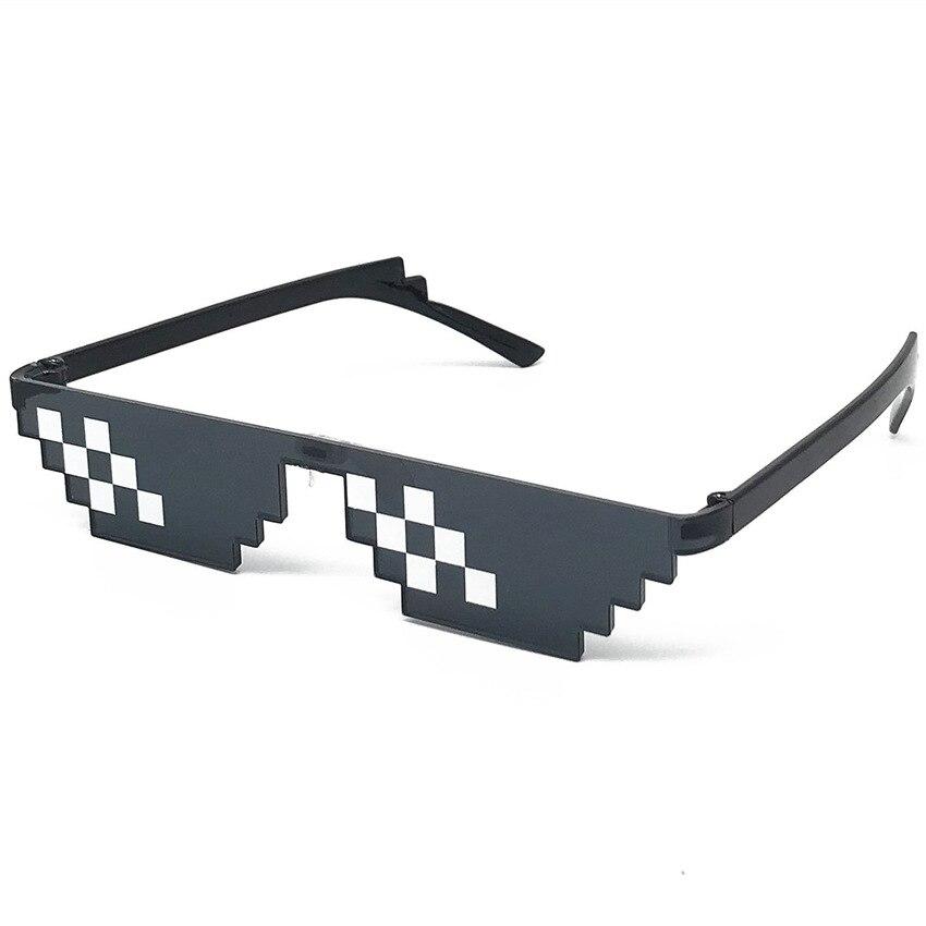 Fashion Glasses Shades 8 Bit Pixelated Ladies Sunglasses Unisex Eyeglasses Mosaic Sunglasses For Men