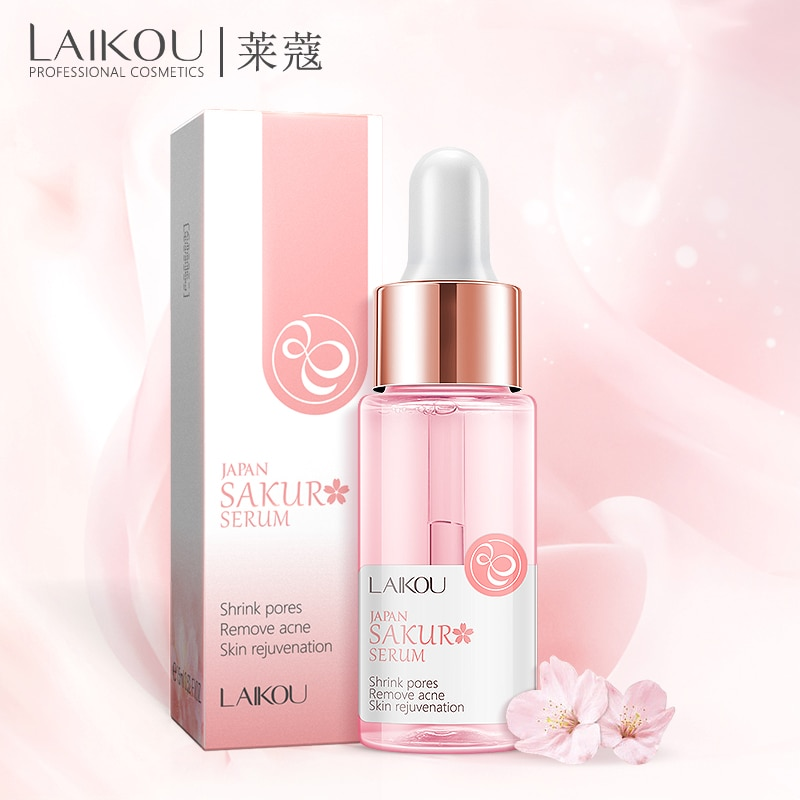 Laiko 15ml japão sakura soro nutrir controle de óleo clareamento rejuvenescimento da pele soro cuidados com a pele