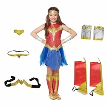 Deluxe Child Dawn Of Justice WonderWoman magical Woman Costume Kids Girls Fancy Dress Disguise Hallo