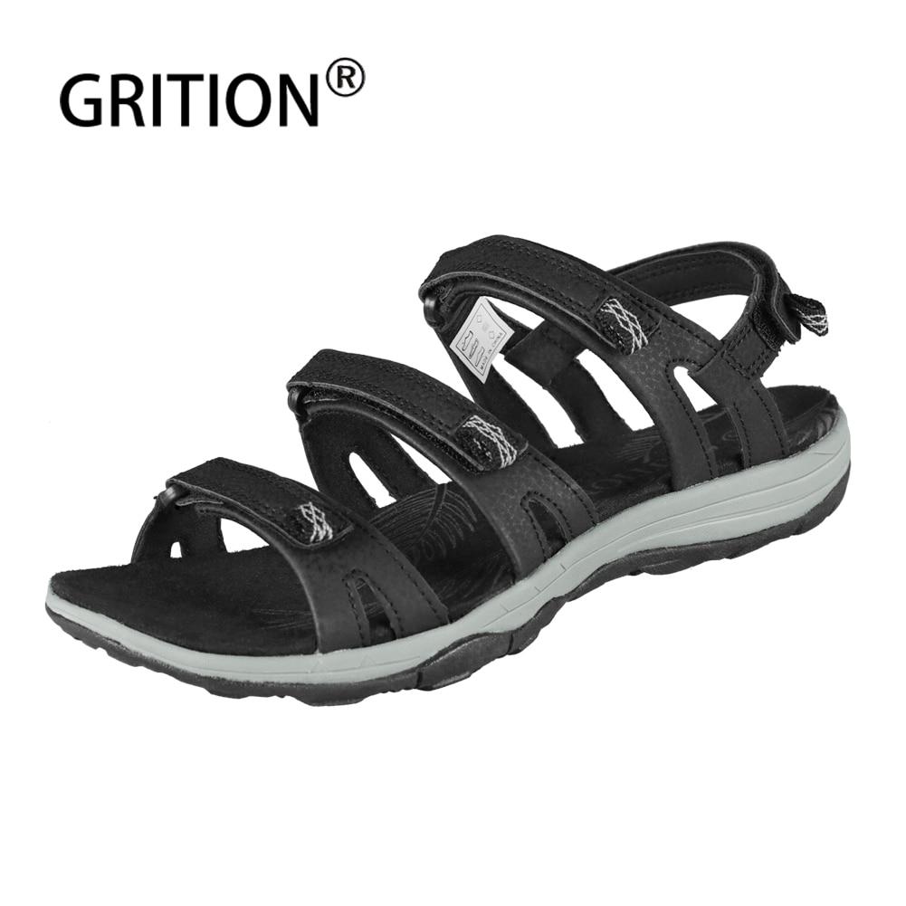 GRITION-صندل نسائي غير رسمي ، حذاء مسطح ، مقاوم ، مريح ، مقاوم ، مناسب للشاطئ ، مقاس كبير 41 ، صيف 2020